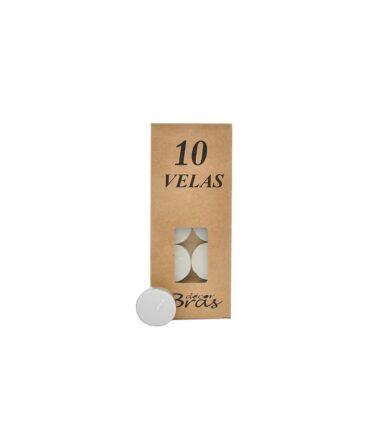 Kit Vela Branca Rechaud pacote com 10 unidades