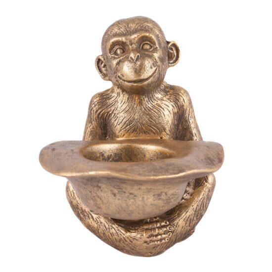 Porta Velas Estátua Macaco