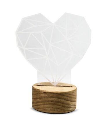 Luminária LED em formato de coração