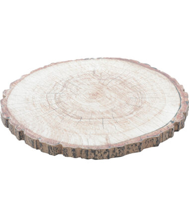 Suporte Rústico Decor Madeira Tree Trunk Style Marrom