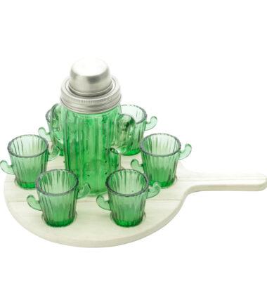 Jogo de Copos com 8 unidades Cactus Verde